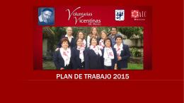 Plan de Trabajo 2015 - Voluntarias Vicentinas México