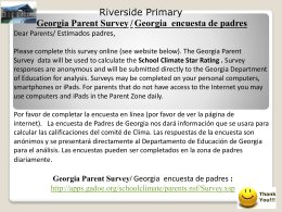 Georgia Parent Survey - Riverside Primary School