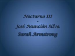 Nocturno III - José Asunción Silva