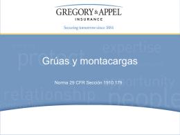 Norma 29 CFR Sección 1910.179