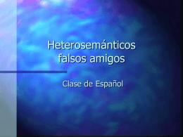 Heterosemánticos