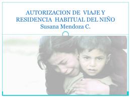 AUTORIZACION DE VIAJE Y RESIDENCIA HABITUAL DEL NIÑO