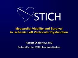 STICH Viability Hypothesis