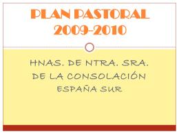 ¿Para qué el Plan Pastoral? - colegio ntra. sra. de la consolación