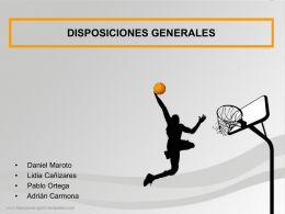 Disposiciones Generales ppt