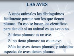 LAS AVES - CPR Ceuta