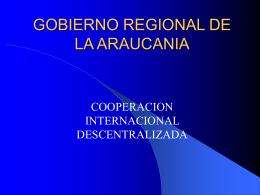 Experiencia de Cooperación de la Araucanìa con