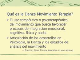 Qué es la Danza Movimiento Terapia?