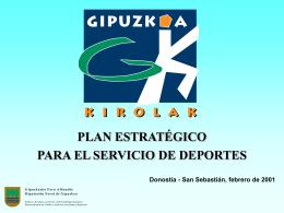 Plan Estratégico Deportes 2001