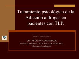 Tratamiento psicológico de la Adicción a drogas en - Sin