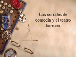 LOS CORRALES DE COMEDIA Y EL TEATRO BARROCO File