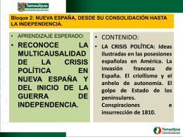 5.- La crisis politica
