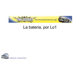La bateria - ForoScenic.com
