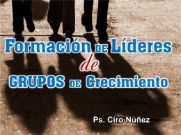 FORMACIÓN DE LÍDERES EN GRUPOS DE CRECIMIENTO
