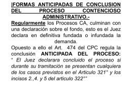 |FORMAS ANTICIPADAS DE CONCLUSION DEL PROCESO