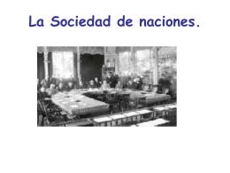 La Sociedad de naciones.
