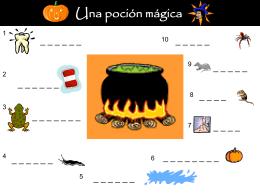 Una poción mágica - a Hallowe`en lesson