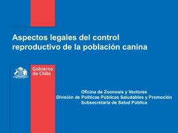 Aspectos legales del control reproductivo de la población canina