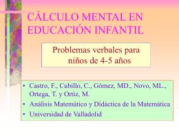 Problemas verbales - Universidad de Valladolid