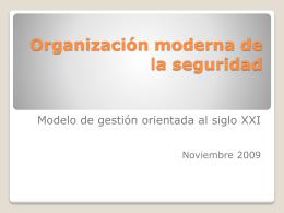 Organización moderna de la seguridad