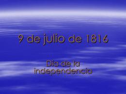 9 de Julio de 1916