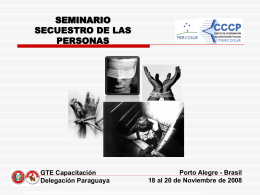 Seminario anti secuestro