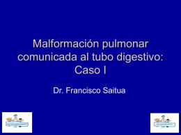 Secuestro pulmonar intralobar - Bienvenidos a Mi cirujano Infantil. cl