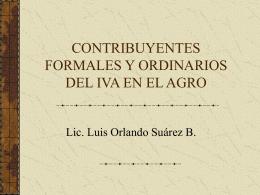 IVA Contribuyentes Formales y Especiales