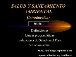 SANEAMIENTO AMBIENTAL (introducción)