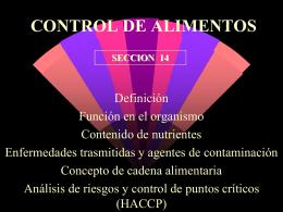 CONTROL DE ALIMENTOS