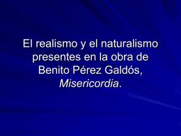 El realismo y el naturalismo presentes en la obra de Benito Pérez