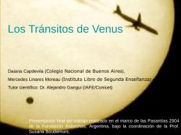 Los Tránsitos de Venus