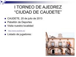 i torneo de ajedrez - Club de Ajedrez Almansa