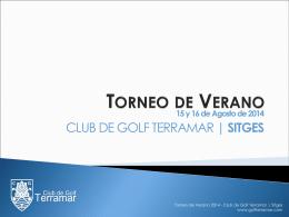 TORNEO DE VERANO - Club de Golf Terramar