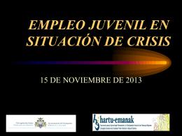 EMPLEO EN SITUACIÓN DE CRISIS