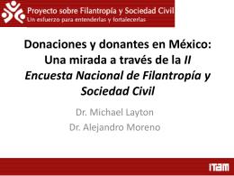 Donaciones y donantes en México: Una mirada a través de la II