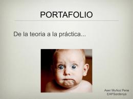 PORTAFOLIO De la teoria a la práctica... Aser Muñoz Pena