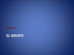 Dinámicas Tema 1 El grupo