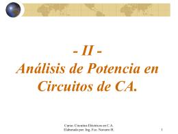 TEMA II - Teoría CA