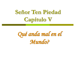 Catequesis Capitulo V_Senor Ten PIedad