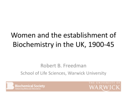 Robert Freedman - University of Warwick