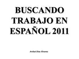 looking for a job in Spanish 2011