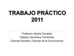 Presentación Beatriz Sznaider