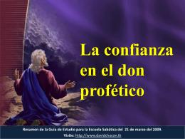 La confianza en el don profético Cómo enfrentar a los críticos