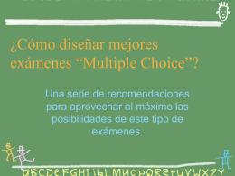 ¿Cómo diseñar buenos exámenes del tipo de Opciones