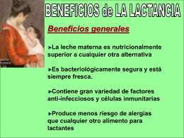 Beneficios de la Lactancia