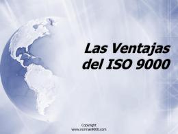 Las Ventajas del ISO 9000