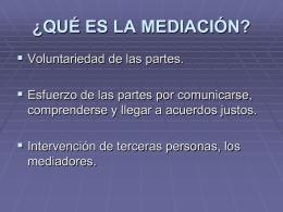 ¿qué es la mediación?