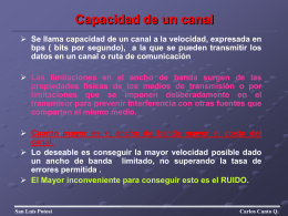 Capacidad de un canal