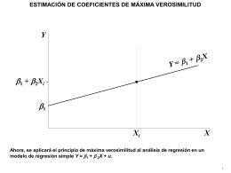 ESTIMACIÓN DE COEFICIENTES DE MÁXIMA VEROSIMILITUD